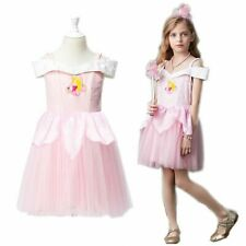 Sleeping Beauty Aurora Dress For Children Kids Princess Tulle Cosplay Clothes
