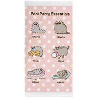 Pusheen Cat Character Pool Party Essential Pink Beach Bath Swimming Towel Cotton