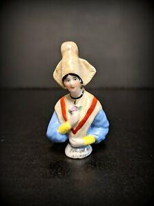 Antique German Half Doll, Stunning Ethnic Dressed Cultural Pincushion Doll