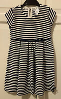 Lovely Junior J blue and white striped dress size 4-5 years