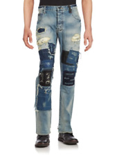 PRPS Demon Starling Mens Blue Slim Distressed Patchwork Jeans NWT 40 x 34 $450