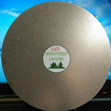 "THK 8"" 320G Electroplated Diamond Flat Lap Lapidary Polishing Glass Facetor"