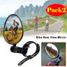 Bicycle Rear View Mirrors 2Pcs Adjustable Handlebar Mirror For Road Bike Cycling