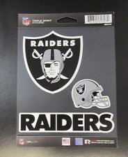 Rico NFL 3 Die Cut Decals Stickers Triple Spirit Helmet Oakland Raiders New