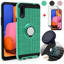For Samsung Galaxy A20S/A20/A50/A71 Phone Case/Full Tempered Glass/Car Holder