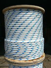 "NovaTech XLE Halyard Sheet Line, Dacron Sailboat Rope 7/16"" x 21' White/Blue"