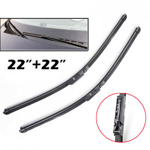 For Audi A6 C6 4F S6 RS6 Allroad Quattro Front Windshield Wiper Blades Set
