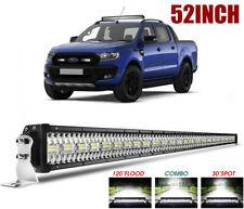 """52"""" 3250W LED Light Bar High Intensity Spot Flood For FORD RANGER WILDTRAC XLT"""