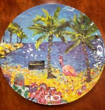 NWT Tommy Bahama Large Melamine Tropical Christmas Serving Platter 17.5""