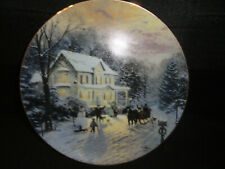 """Knowles """"Sleighride Home"""" by artist Thomas Kinkade Collector Plate"""