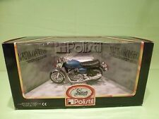 POLISTIL MOTORCYCLE NORTON 750 COMMANDO -  BLUE 1:15? - GOOD IN BOX