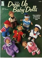 Crochet Dress Up Baby Dolls -House of White Birches Crochet Pattern Book #101095