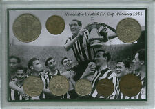Newcastle United (The Magpies) Vintage F.A Cup Final Winners Coin Gift Set 1951