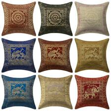 Indian Brocade Elephant Cushion Cover Decorative Silk Pillow Case Cover Throw 16