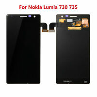 For Nokia Lumia 730 735 LCD Display Touch Screen Digitizer Assembly Black RHN02
