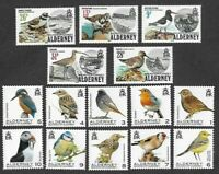 Alderney-Birds-1984(set) & 2020(1p-10p) issue mnh