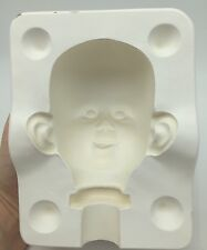Porcelain Doll Head Mold 829 H Doll Making Parts Casting Baby Grinning Smiling