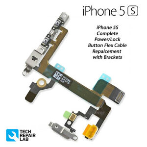 NEW iPhone 5S Complete Power Lock Volume Mute Silent Button Switch with Brackets