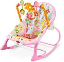 Baby Bouncer Rocker Seat Infant To Toddler Girl Nursery Chair Gift Toys NEW