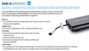 Dension DAB+G for GW500S,GWP with text, Digital Radio Receiver Extension for GW.