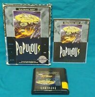 Populous  Sega Genesis Working Box Cover Art Manual Game Complete Authentic Rare