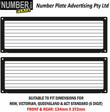 Number Plate Cover 6 Digit Screw On with pinstrip lines