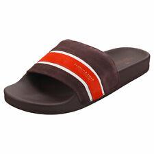 Scotch & Soda Galvyn Mens Burgundy Suede Slide Sandals