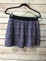 Old Navy Womens Size Small Multicolor Floral Cotton Lined Skirt Elastic Waist