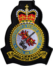 RAF Fire and Rescue Service Mod Crest Embroidered Patch