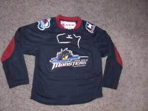 LAKE ERIE MONSTERS sewn authentic CCM Hockey Jersey youth Small/Medium