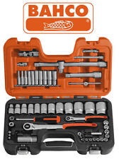 "BAHCO S560 56 Pce 1/4"" & 1/2"" Metric Ratchet Socket Short/Deep & Extensions Set"