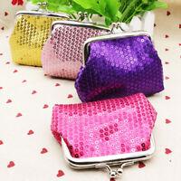 Kid Girl Sequin Coin Purse Mini Wallet Small Bag Christmas Birthday Gift