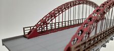 Modelux Meridian OO 295 Arch suspension Bridge in Red Oxide