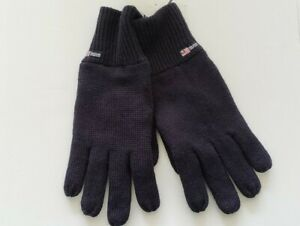 NWT POLO JEANS COMPANY MENS NAVY WOOL GLOVES SUEDE PALM #A