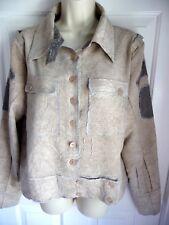 Komarov XL Jacket Coat NWT NEW Unique Style Crashed Ribbed Fabric Patched Sleeve