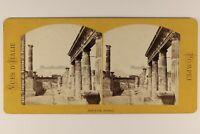 Italia Pompei Tempio Da Venere c1868 Foto Roberto Rive Stereo Vintage Albumina