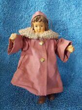 Girl Angel Wearing Pink Coat Christmas Ornament