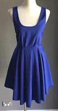 unique Cobalt Blue IMPRINT Dip Hem Mini Dress Size 8