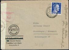 023 GERMANY TO DENMARK CENSORED COVER 1940 FRANKFURT - KOBENHAVN
