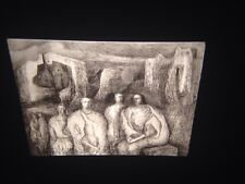 "Henry Moore ""Figures In Architectural Background"" British Art 35mm Glass Slide"
