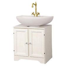 Sottolavabo copricolonna per il bagno decapè bianco 61x45 cm arredo arte povera