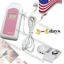 US SELLER baby Heart Beat Monitor Prenantal Listenning Fetal Doppler Baby Sound