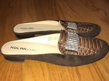 NOLAN by GLORY DIAMOND SNAKE Clogs Ballet Flats Loafers Shoes Womens Size 7.5 #