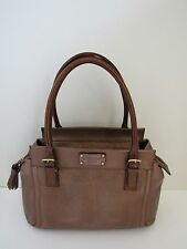 Kate Spade $375 EW Addison Cheletenham Shiny Metallic Bronze Leather Satchel
