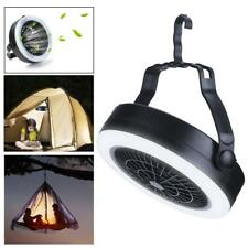 2 in 1 Tent Fan LED Light Camping Gear Outdoor Hiking Equipment Portable Lamp