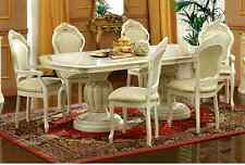 Leo Ivory Italian Oval Extension Dining Table with 6 Chairs   (SALE NOW ON)