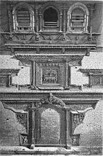 NEPAL - KATHMANDU:  FRONTAGE a PALACE - Engraving from 19th century