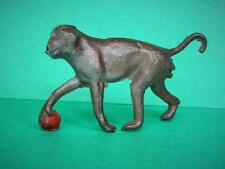 Charbens Vintage Pre-War Lead Zoo Series Monkey With Ball Superb ! Like Britains