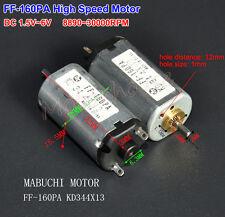 DC 1.5V~6V 3V 5V 6V 30000RPM High Speed MABUCHI FF-160PA Micro DC Motor KD344X13