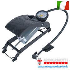 RING Pompa a Pedale Monocilindrico Gonfia Pneumatici Ruote Auto Moto Biciclette